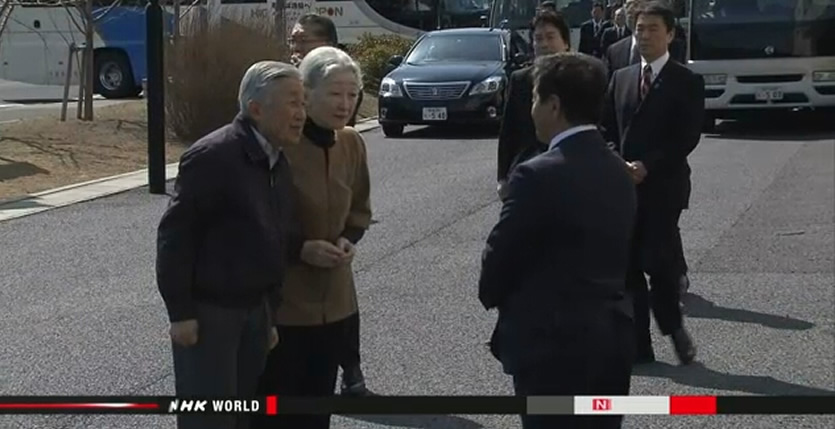 &nbspImperial couple visits tsunami-hit areas