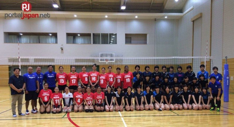 &nbspAng mainit na pagtanggap ng Japan ng PH women's volleyball team