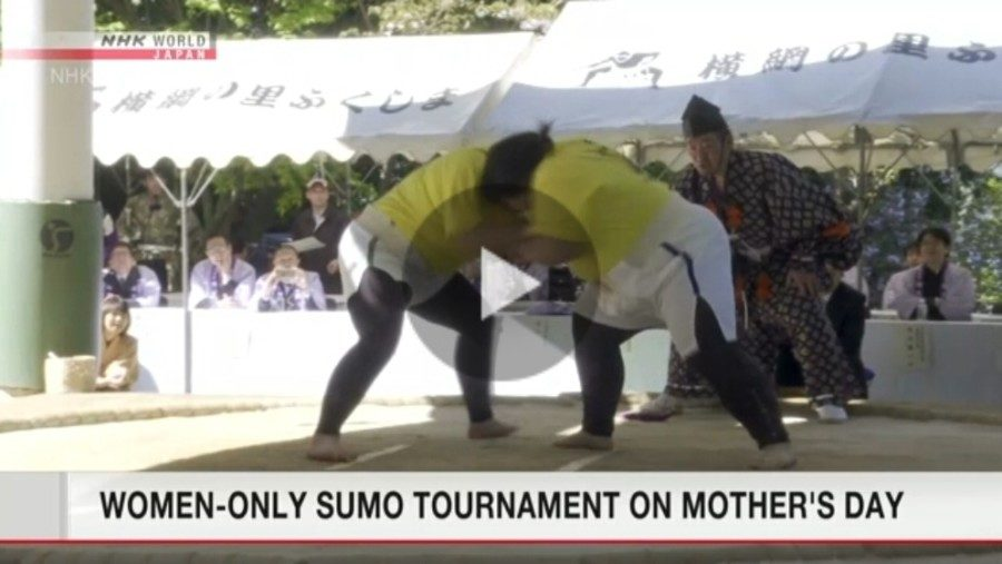 &nbspWoman-only Sumo Tournament ginanap noong Mother's day