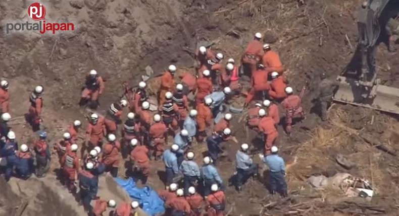 &nbspIsang bangkay nanaman ang natagpuan mula sa landslide na nangyari sa Oita Prefecture