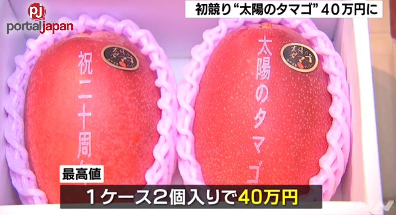 &nbspIsang pares ng mangga nakakuha ng record-matching na 400,000 yen sa ika-unang auction