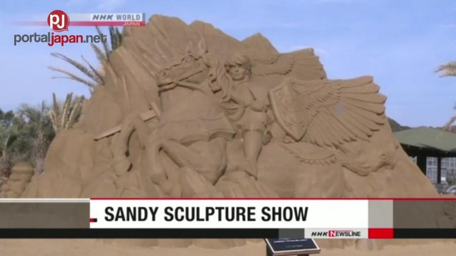 &nbspNag-lalakihang Sand Sculptures naka-display sa Chiba Park