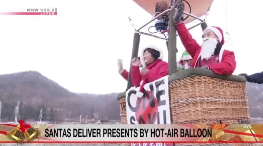 &nbspMga Santa sakay ng hot air balloon sa Nagano