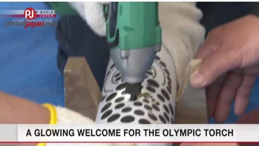 &nbspMga parol na kawayan ang malugod na tatanggap sa sulo ng Olympics
