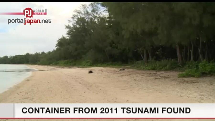 &nbspContainer na natagpuan sa isang isla ay maaaring nag-mula noong 2011 Tsunami