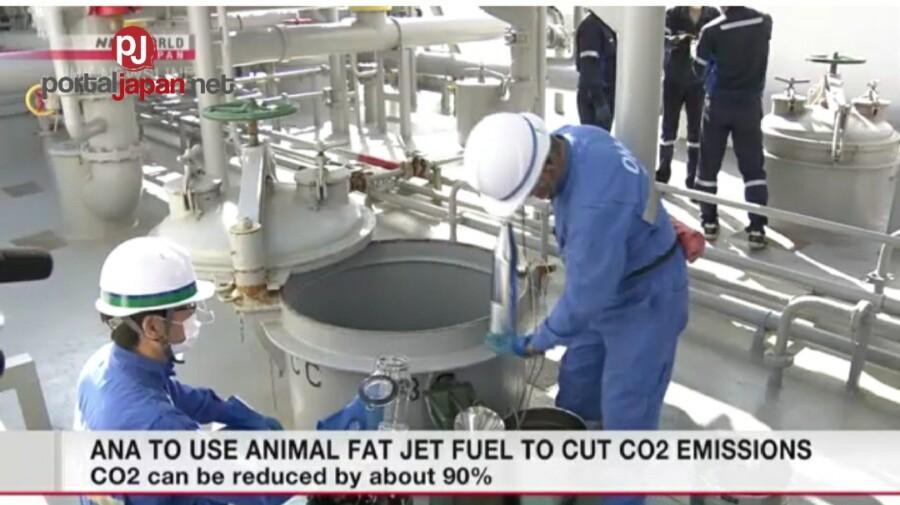 &nbspANA gagamit ng gasolinang gawa sa taba ng mga hayop upang makabawas sa carbon dioxide emissions