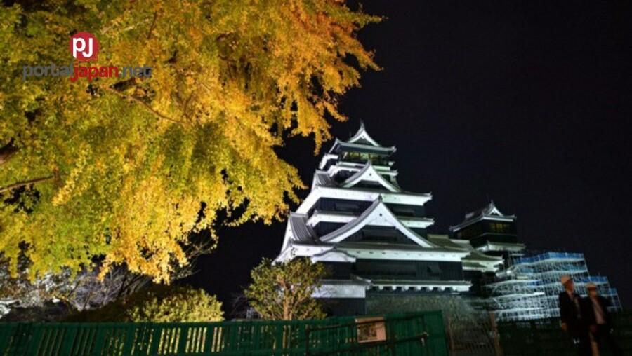 &nbspIn Photos: Kumamoto Castle inilawan bago ang festival