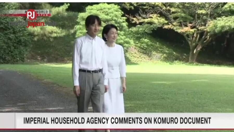 &nbspKasagutan ng pamilya ng Crown Prince sa mga dokumento ni Komuro