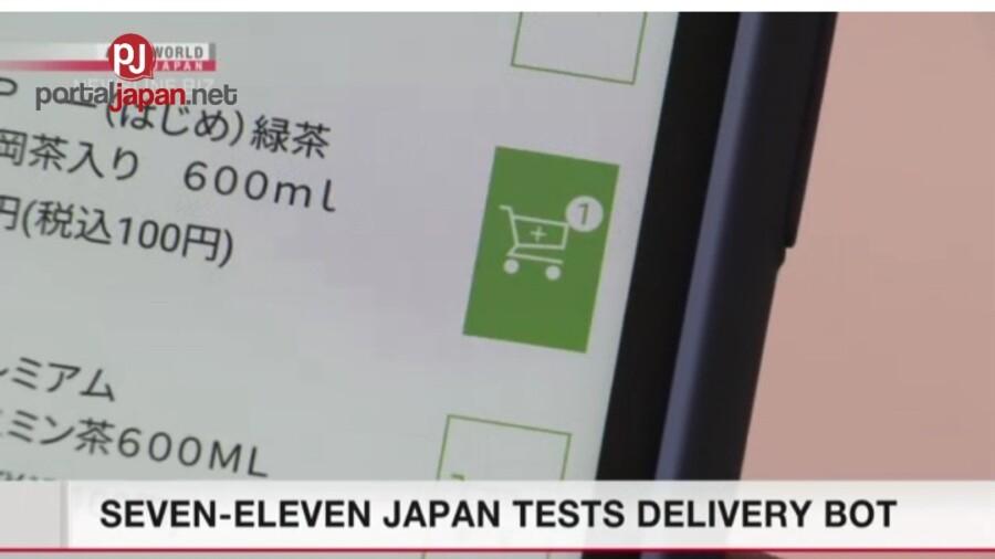 &nbspSinubukan ng Japan 7-11 ang kanilang robot delivery