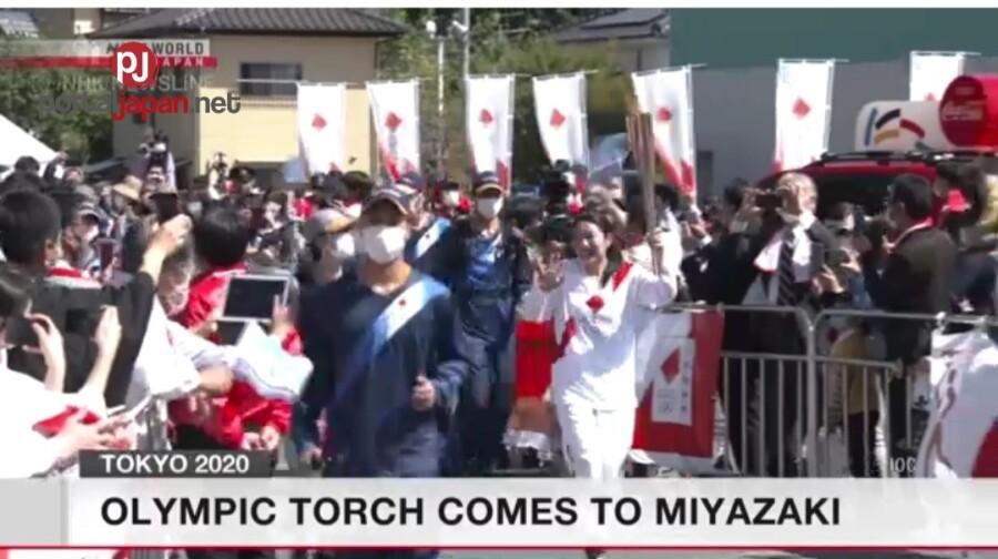 &nbspOlympic Torch, nasa Miyazaki na
