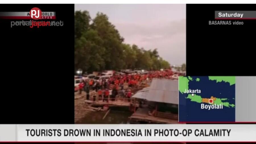 &nbspIsang tourist boat sa Java tumaob, dahil sa pagse-selfie