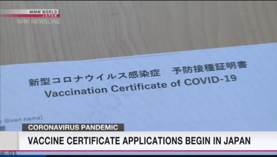&nbspApplication para sa vaccine certificate, nagsimula na sa Japan